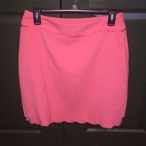 ELLE Coral Pink Scalloped Pencil Skirt - Size 6